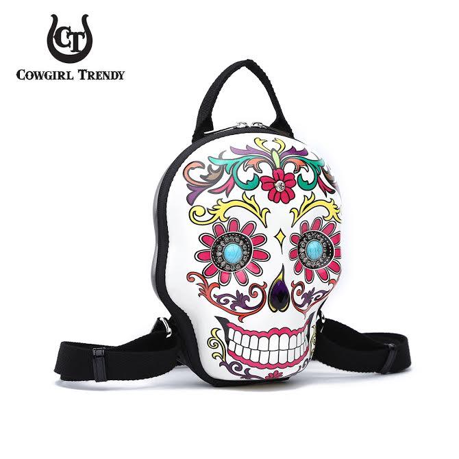 SKSB5618 Black 3D Hardshell Box Sugar Skull Backpack
