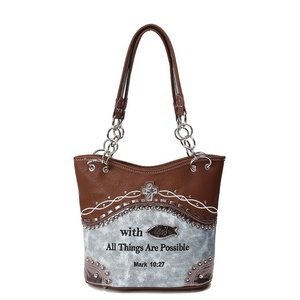 Western Tote Bag with Bible verse