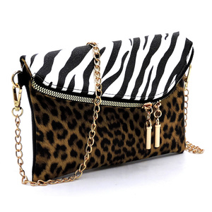 Leopard Zebra Envelope Crossbody Clutch