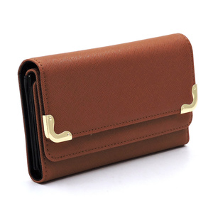 Saffiano Tri-fold Clutch Wallet Cell Phone Wallet