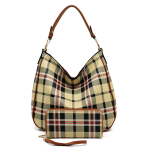 Plaid Check  2-in-1 Shoulder Bag