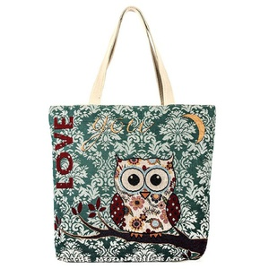 AWL PRINT CANVAS TOTE