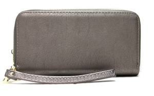 Fashion 2 zipper Wallet (with wristlet)